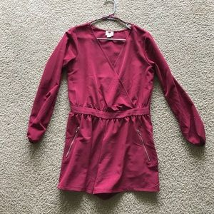 Dresses & Skirts - Wine Colored Long Sleeved Romper